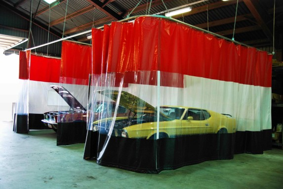 Body Shop Curtains Auto Guard Autobody Partition Walls