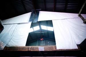 Energy Shield folding insulated curtain wall