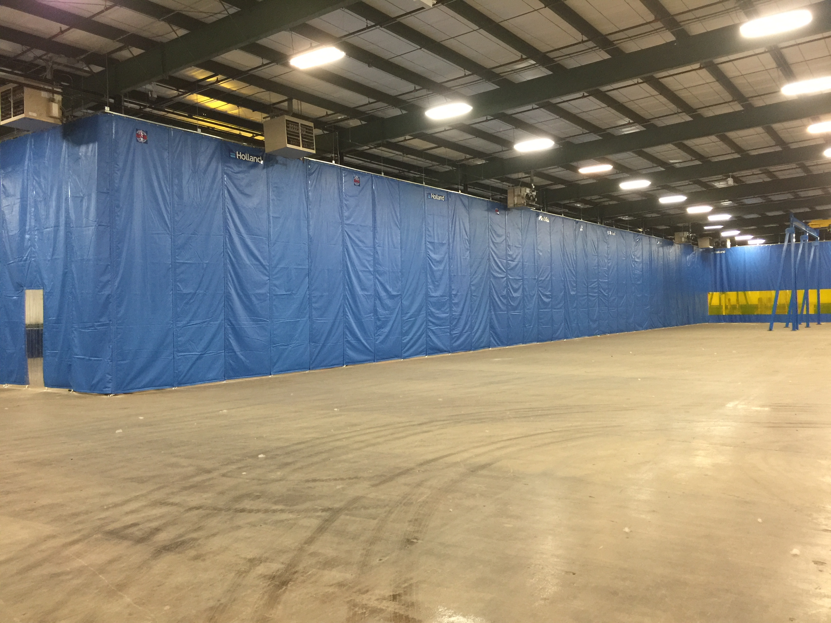 Industrial Insulated Curtains Allow the Flexibility to Create Large Freezer to Freezer Temperature Separation