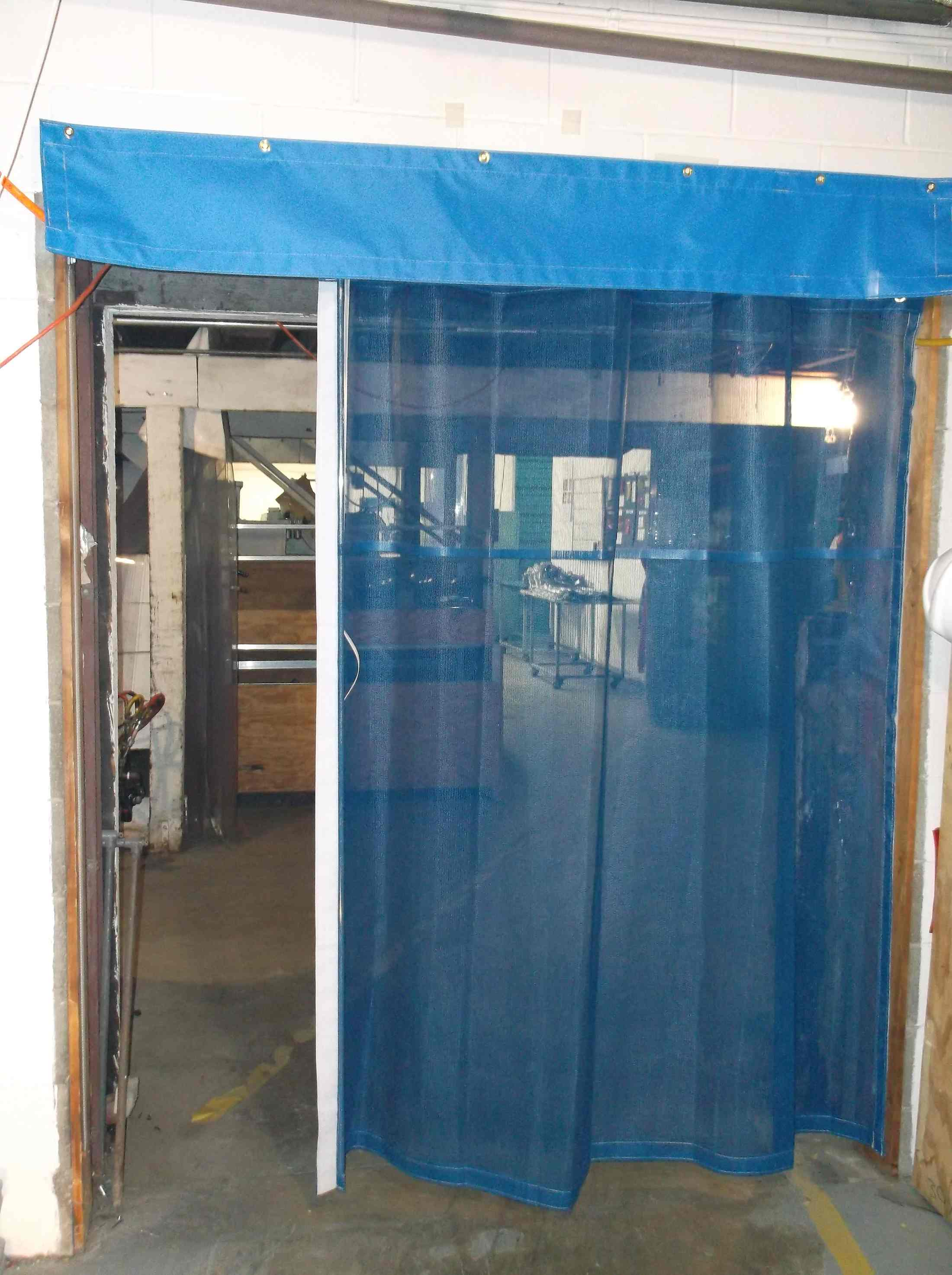 Industrial Garage Door Curtains Amp Warehouse Bay Door Mesh