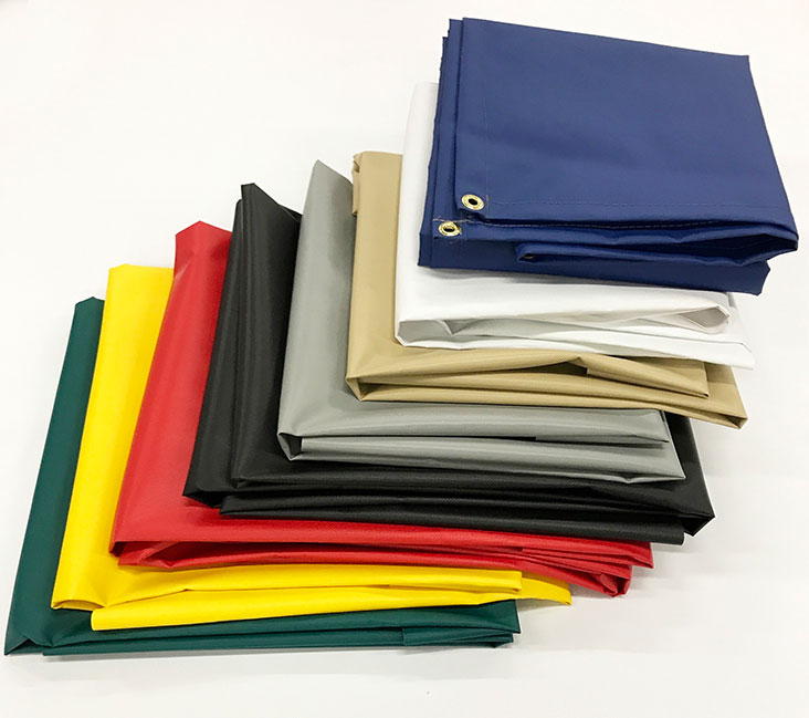 18 Oz Fire Retardant Vinyl Tarps For Sale Heavy Duty