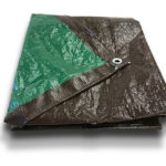 Brown and Green Poly Tarps – 5 mil