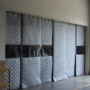 Industrial Sound Curtains in Entry Way