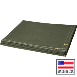 Canvas Welding Curtains Folded Made in USA