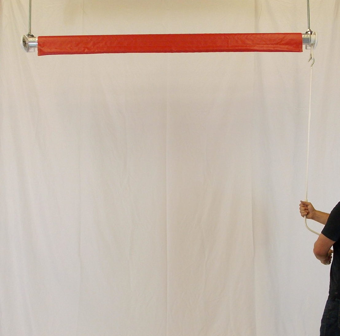 Industrial Vinyl Roll Up Curtains – Crank Style