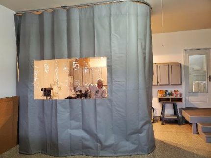Woodworking Dust Curtains